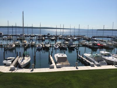 Photo for The Boat House II: Cozy Condo.Amazing View of Lake Charlevoix .town/beach/pool