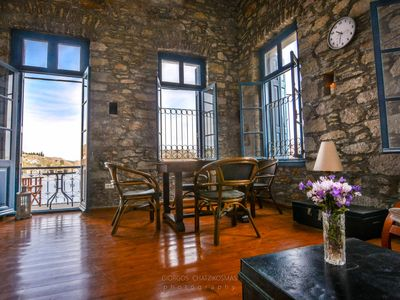 Photo for Traditional Symi Mansion by the Sea (easy car access)