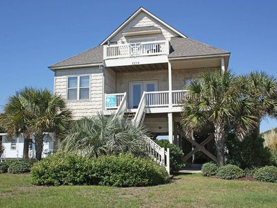 Photo for At The Beach: 4 Bed/3 Bath Home with Ocean Views, 6 Lots from Beach Access