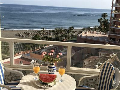 Photo for Beach front apartment hotel with nice seaviews, near Puerto Marina