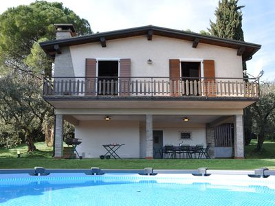 Photo for Splendid Villa located on the green hills of Lake Garda.