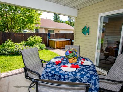 Photo for NEW LISTING! 2BD 1BA Townhome just 3 min to Downtown Whitefish! Private hot tub!