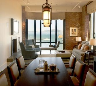 Living space--dining table for 6