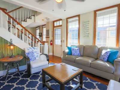 Photo for Walk to Upper King St.!  Historic, 2 story Charleston Single home w/ double piazzas.  Free parking!
