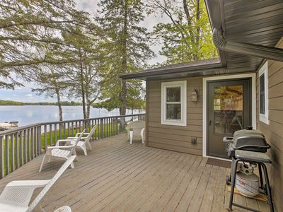 Photo for Lakefront Hayward Home w/Private Dock & Fire Pit!
