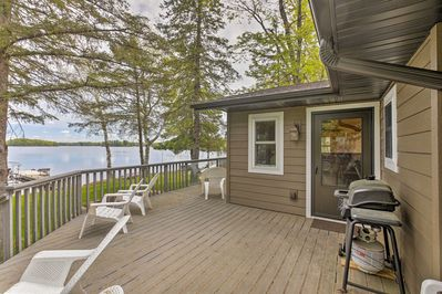 Make this lakefront 2-bedroom, 1-bath cabin your new home in Hayward, Wisconsin.