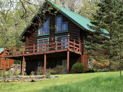 Photo for RUSTIC, MAGICAL, LOG HOME IN SW. WI. ...TROUT STREAM, HIKING, NEARBY CANOEING