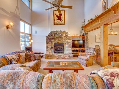 Photo for Ski-in/ski-out Schweitzer Mountain home w/ private hot tub - walk to lifts!