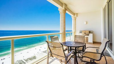 Photo for BC 1604 Beach Club Gulf Front - Directly on the Sand! Includes Beach Chairs!
