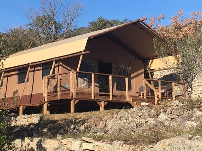 Photo for Tent Lodge comfort, full nature on exceptional site, 10 mn Lac Salagou
