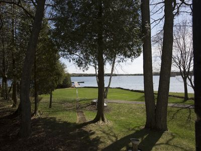 Photo for Charming Door County Home on the Water | 175' dock | Sleeps 12