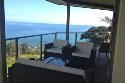 Relax and enjoy the views from the large verandah.