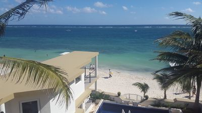 Photo for Casa Toucan 4 - Beautiful Beachfront near the Town Square of Puerto Morelos