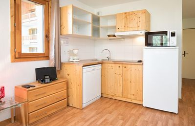 Photo for Beautiful studio for 4 persons. A bright living room with two single beds. Equipped kitchen with din