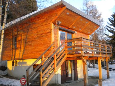 Photo for Chalet 10 pers. wonderful view, south facing 500m walk from the center of Merlette