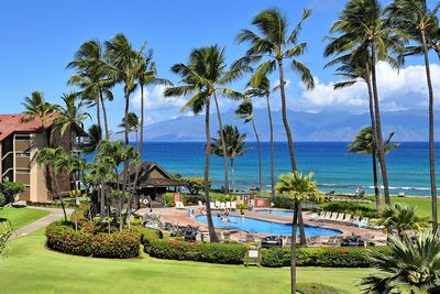 View from Lanai to Pool and Ocean