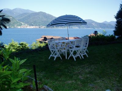 Photo for Lake Maggiore - Cannobio- IT- Appartem. for 5 pers. - private beach & superb view