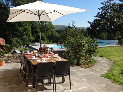 Photo for Holiday house in the heart of the Basque country with swimming pool, and park of 2ha