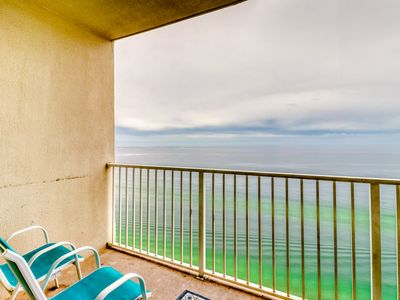 Photo for Waterfront condo w/ gorgeous view, indoor & outdoor pool - patio!