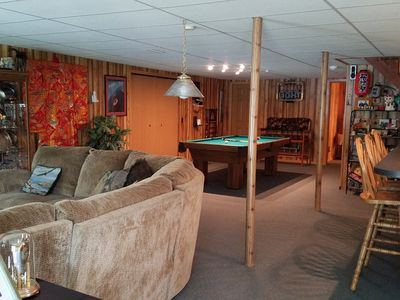 Enjoy a game of pool at home or go to the LakeHouse Grill to play.
