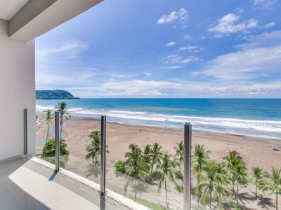 Photo for Breezy oceanfront condo w/shared pool & great views. Just steps from the beach!