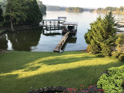 Stunning lakefront 6BR home w/ hot tub and multiple decks!
