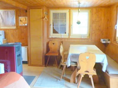 Photo for Outside : flat on the ground floor of a chalet near the cog railway, for 2-4 persons, large terrace