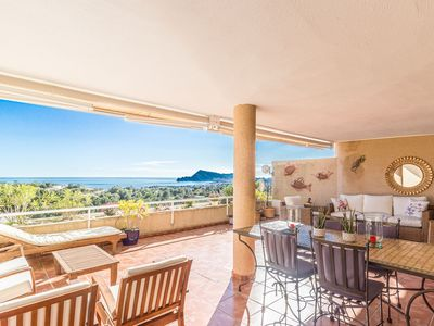 Photo for A tremendous view over the sea, from Altea to Benidorm 4 persons two bathrooms.