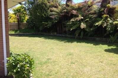 Private sunny back yard