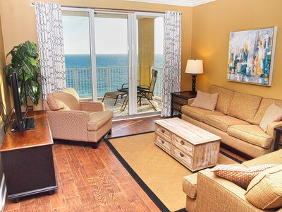 Photo for Platinum Gulf-Front End Unit, MILLION DOLLAR VIEW, Relax on the HUGE balcony!