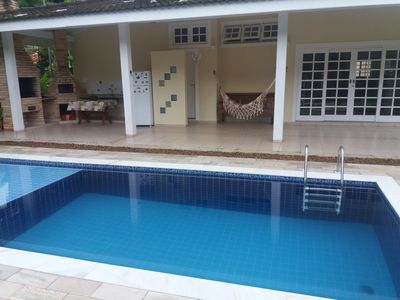 Photo for House in gated community, private pool, prox. from the beach, 1 km from Maresias