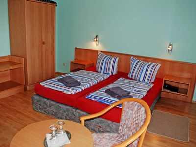 Photo for Double room II (2, 3) - DEB 011 Pension - directly on the water with boat rental and sauna