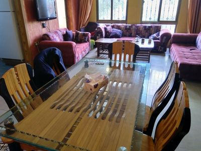 Photo for Fully furnished 2 bedroom apartment with attached 2, bathroom and sitting room