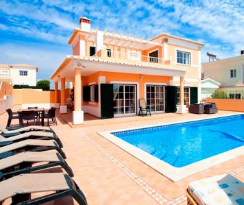 Photo for Luxury 5 Bed Family Villa Sleeps 11 Lagos Heated Pool Close to beach & Bar