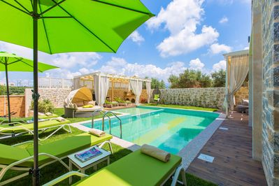 Outdoor area and 50 m2 pool with safe part for children