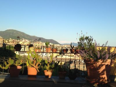 Photo for panoramic roof terrace with pergola: Genua Domus penthouse
