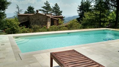 Photo for Newly Renovated 18th Century Hilltop Villa with 6 Baths, Pool, Wifi