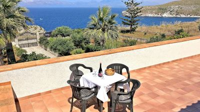 Photo for Spacious Villa Calarossa apartment in Scopello with WiFi, integrated air conditioning, private terr…