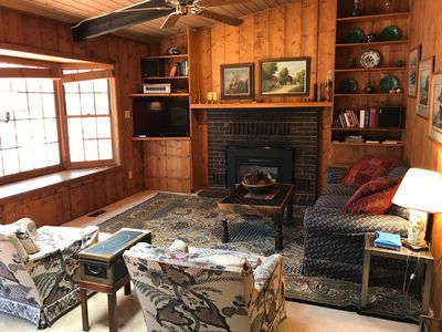 Photo for Lakefront Mountain House with Lovely Interior, Wifi, Big Deck, Pets Welcome