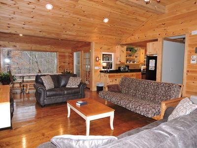 Photo for Beautiful  mountain cabin w/ screen porch & deck over looking the S. Saulda