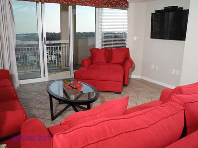 Photo for Barefoot Resort North Tower Unit 601! 4BR/ Great Waterway Views/Large Pool/Shopping at Barefoot Landing very close. Book your get-away today!