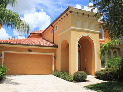 Photo for Gorgeous 5BR/5BH Disney Area Vacation Home Private Pool and Spa Gated Resort