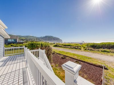 Photo for NEW LISTING! Waterfront, dog-friendly house w/ gorgeous sunsets & ocean views!