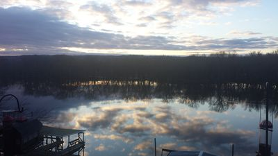 Photo for Beautiful Riverfront Cabin On The Mississippi With Amazing Views, Dock Access