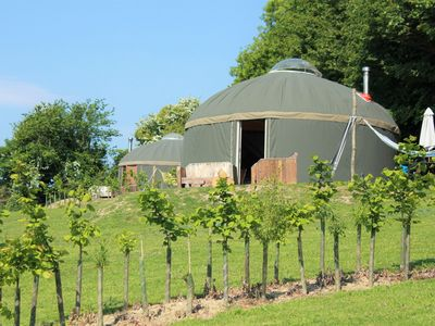 Photo for Luxury Yurts on The Garlic Farm sleeping 2 - 6