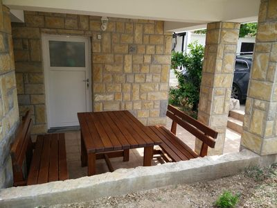 Photo for One bedroom apartment with terrace Vinjerac, Zadar (A-13985-b)