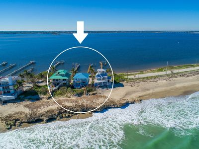 Photo for 3 Florida side-by-side Beach Houses; 12 BRs sleep 50+. ON beach! +Private Docks