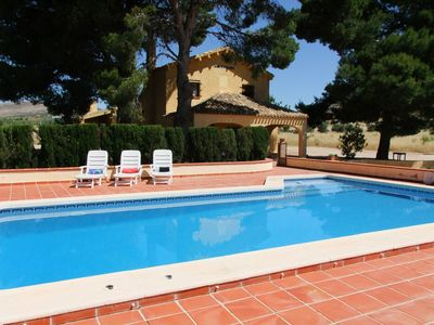 Photo for SPANISH VILLA WITH PRIVATE POOL, WIFI, 50 MINUTES FROM THE BEACH