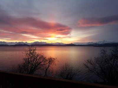 Photo for Oceanfront Luxury Apartment Overlooking Kachemak Bay and Homer Spit!