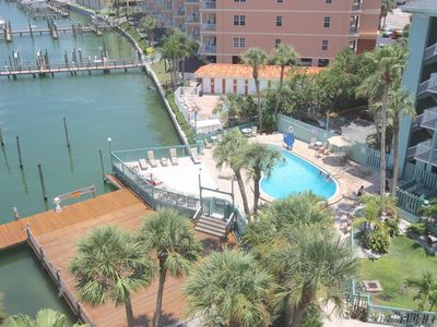 Photo for Waterfront Dolphin-Watching! Free Wi-Fi & Cable, W/D, Pool, Parking for 2 cars - 306 Dockside